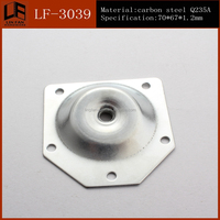 table base aluminum top plate