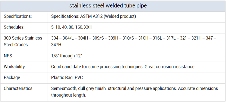 sus305 stainless steel pipe