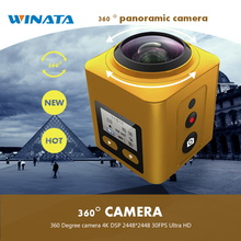 360 Degree camera 4K DSP 2448*2448 30FPS Ultra HD Panoramic 360 Sport Cam 1440P 60FPS 360*220 Wide-angle Panorama video Camera