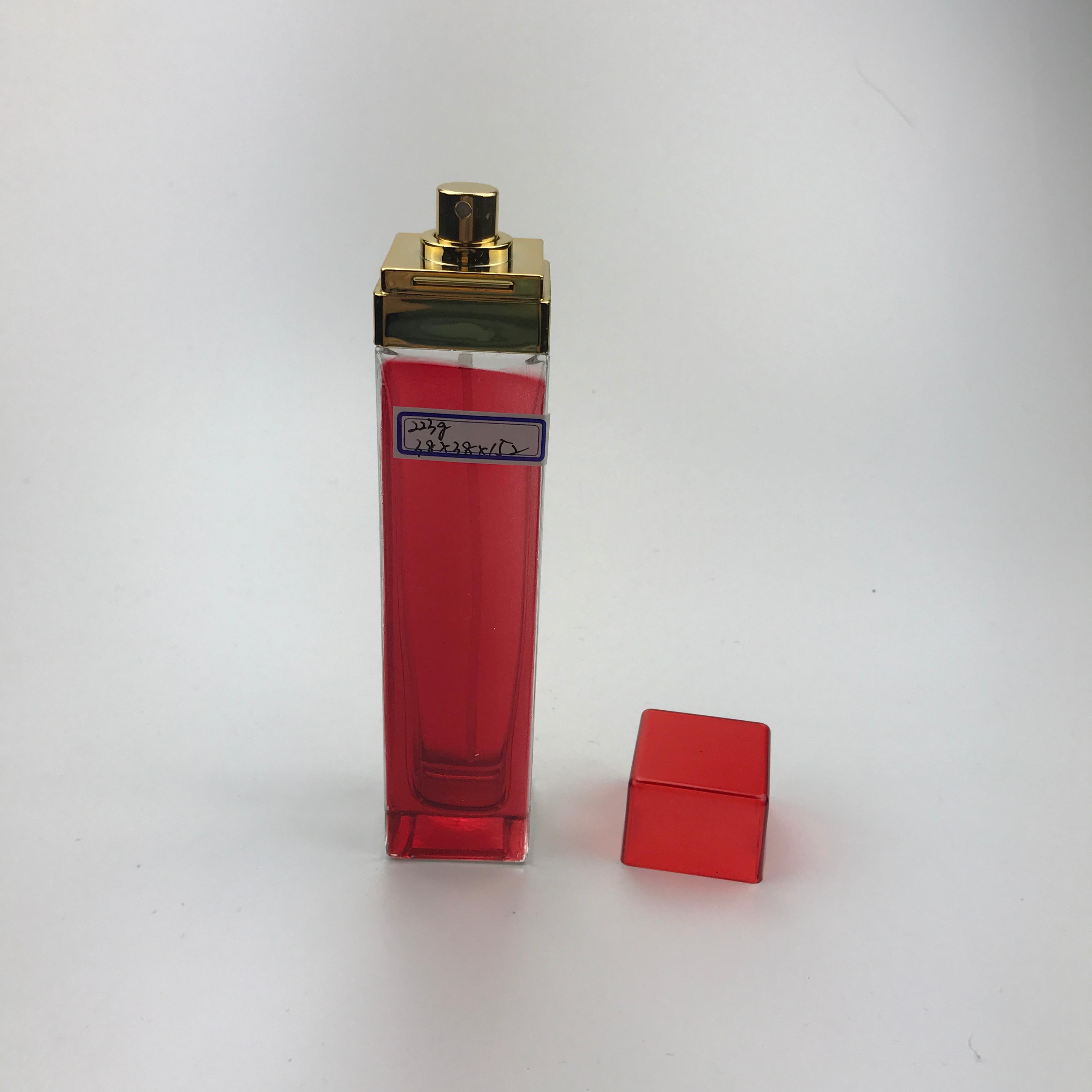 100ミリリットルスクエアシェイプロングスリムガラス香水スプレーボトル