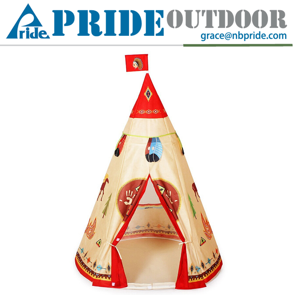 Indian Story Kids Tent Mosquito Kids House Play Princess Children Teepee Tent