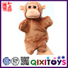 2016 hot sale monkey shape hand puppet toys for kids