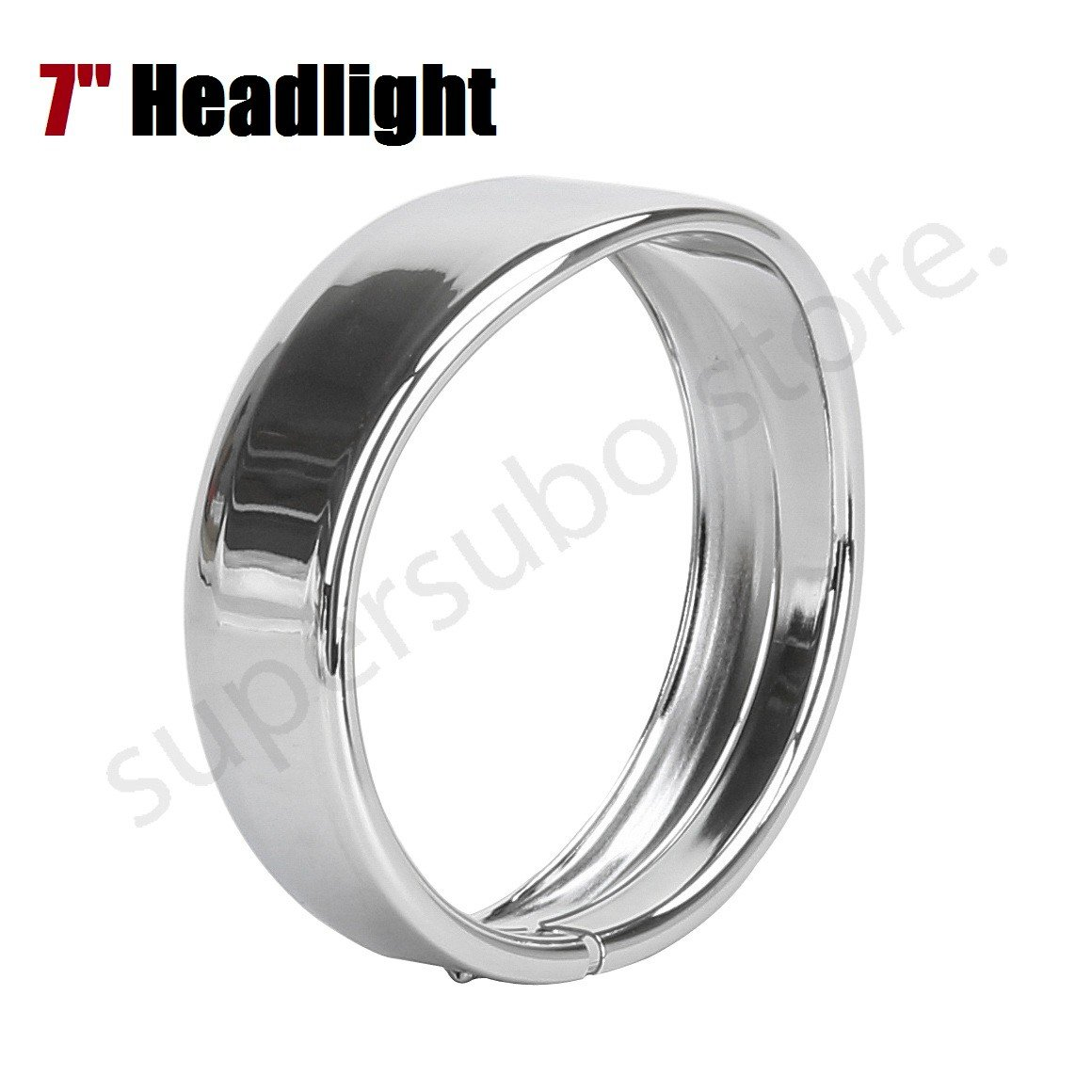"Black 7"" Headlight Trim Ring visor For Harley Touring 83-13, 12-14 FLD headlight cover, 94-14 FLHR, 86-14-FLST Models"