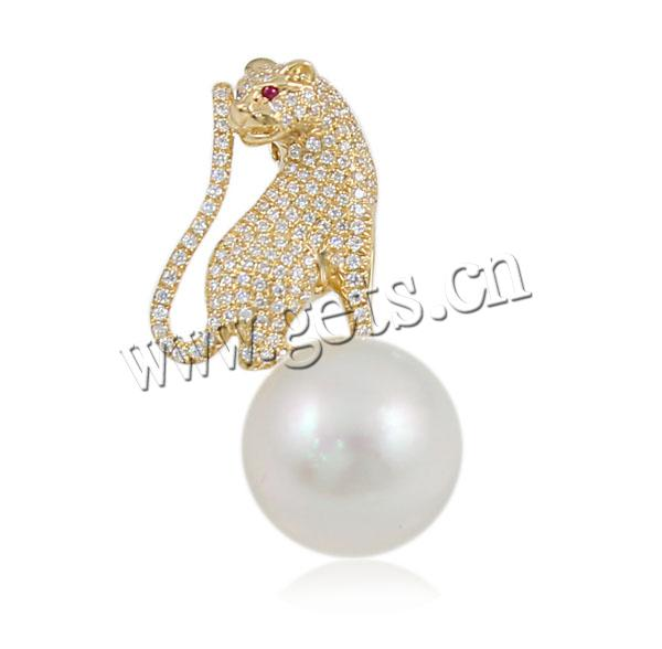 2015 Akoya Cultured Pearls 14mm 16x33mm natural zircon pendant
