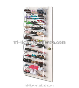 36 Pair Over The Door Mounted Japanese Shoe Rack