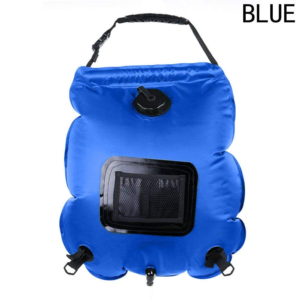 FidgetFidget Shower Solar Heated Water Bathing Bag Outdoor Travel Hiking Portable 3 Color 20L