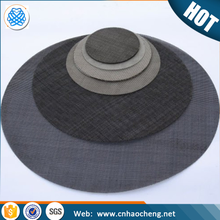 80 Mesh 0.12mm wire low carbon steel /stainless steel wire mesh screen for plastic extruder machine