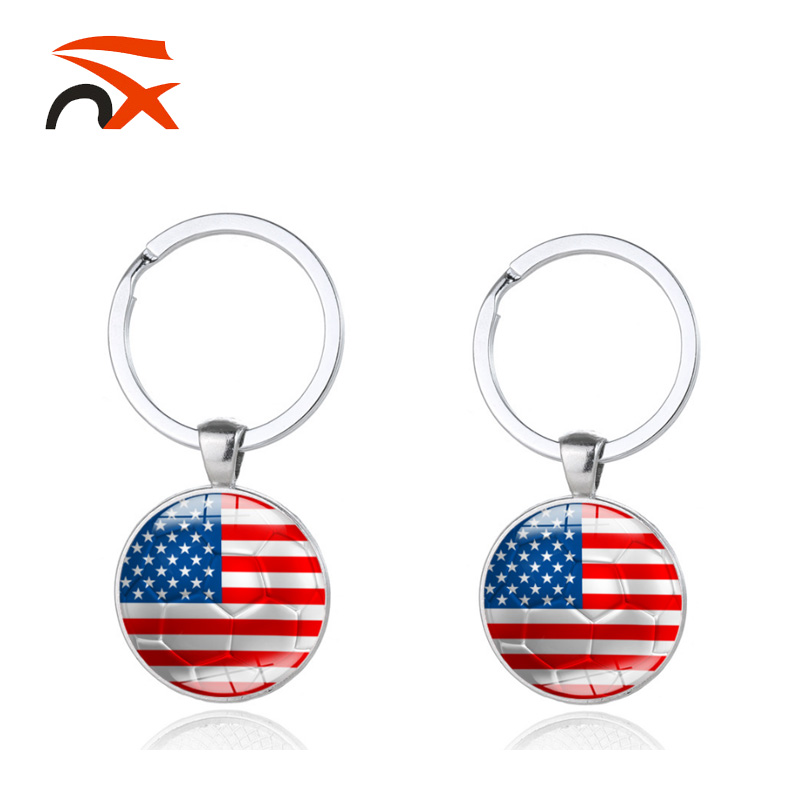 Hot Selling Zinc Alloy USA Flag Keychain For Festival