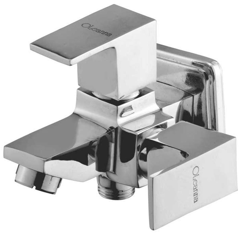 Oleanna Brass Square 2 In 1 Bib Cock With Wall Flange S-05