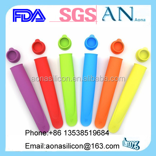 Silicone Push Up Ice Cream Jelly Pop Maker Popsicle Mould Mold