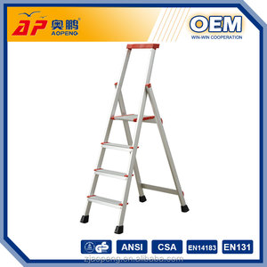 4 Step Household Aluminum Ultimate Ladder outdoor stair steps lowes