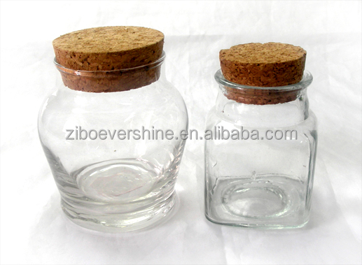 clear glass spice jars with cork lid - Glass Spice Jars