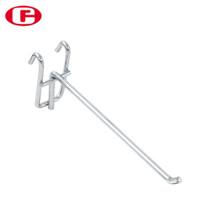Metal chrome hanging net supermarket display wire hook
