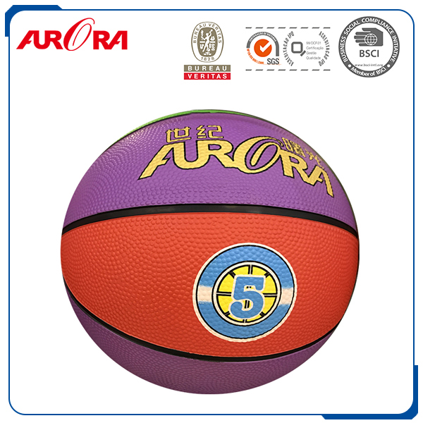 Factory custom rubber basketball size 7
