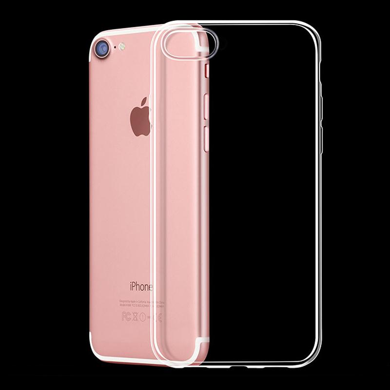mobile phone accessory ultra thin crystral gel soft TPU case cover for iphone 7
