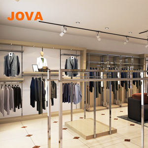 Retail Wooden Cloth Display Store Interior Decoration Garment Small Retail  Shop Design