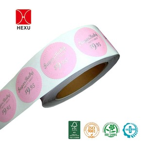 Top quality custom round paper logo label sticker, colored seal sticker printing, circular logo sticker roll