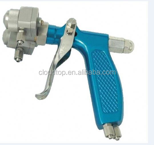 Ningbo air tools 2015 adhesive spray equipment mini chrome double nozzle spray gun