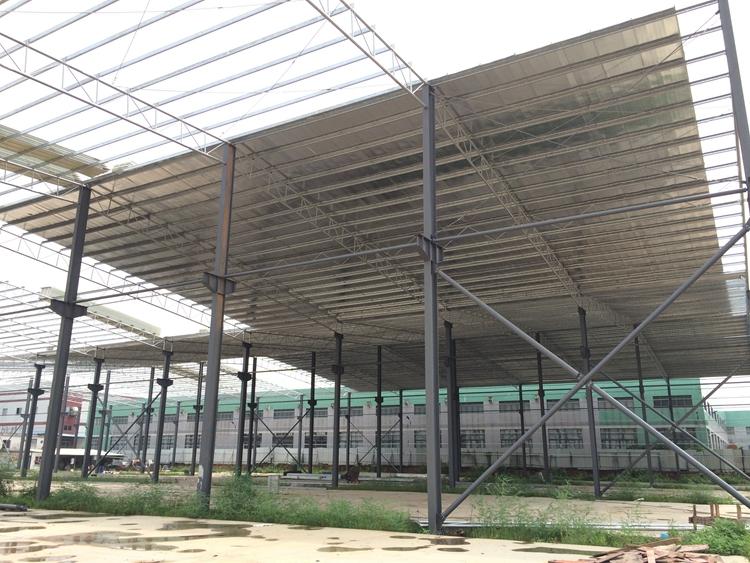 불산 건설 조립식 강철 건물 강철 구조 구조 주차 창고