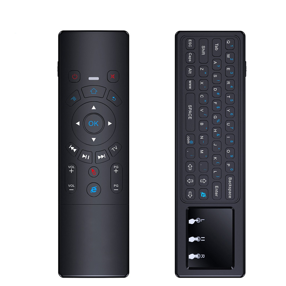 ShenZhen factory T6 universal remote control with air mouse T6 wireless backlight keyboard better than G7 airmouse