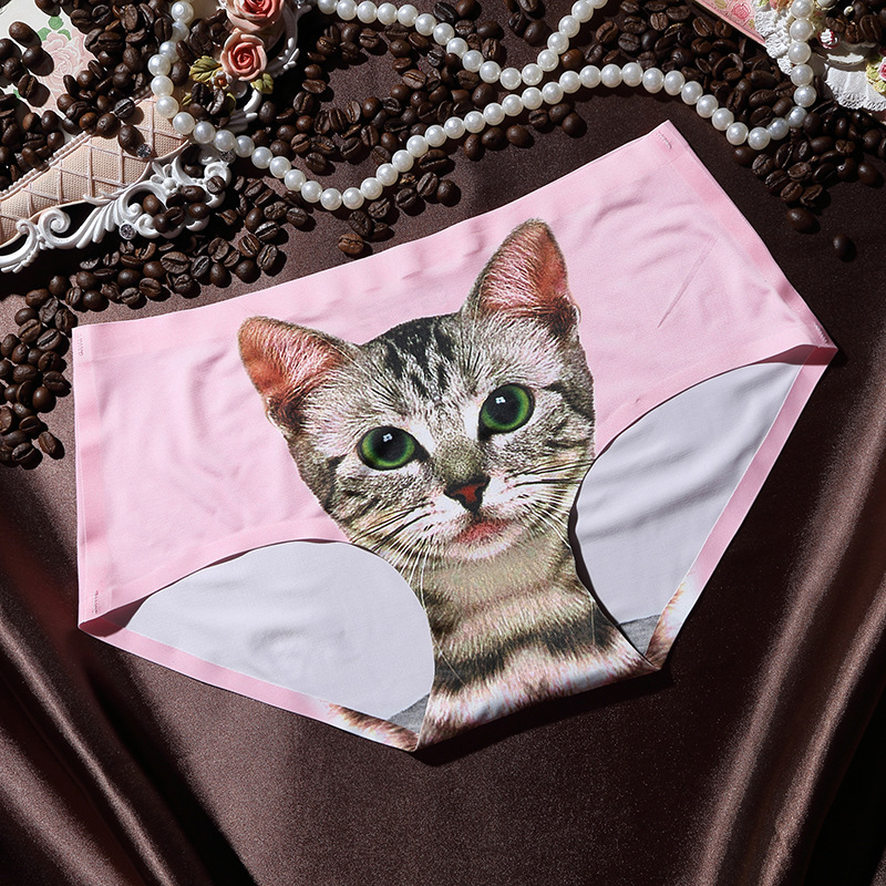 cheap nylon panties with cat picture