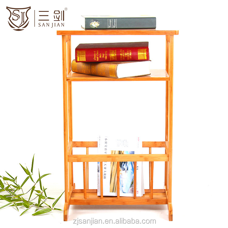Eco-friendly Bamboo Book Shelf Used Library Bookcases