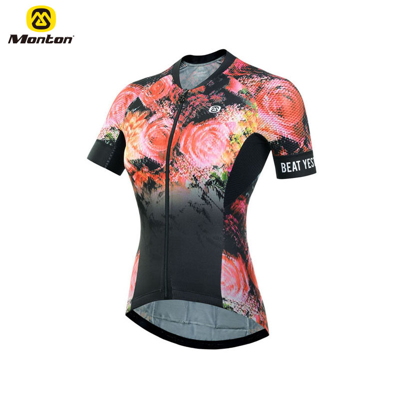 Wholesale Lightweight Women Cycling Clothes Road Bike Jersey With Sublimation Printing