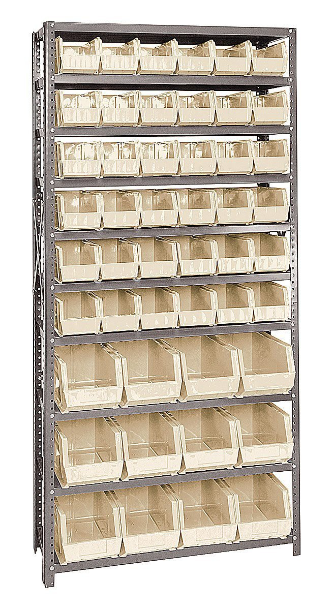 Quantum Storage Systems QSBU-230240 Giant Open Hopper Storage Unit with 48 Bins Ivory