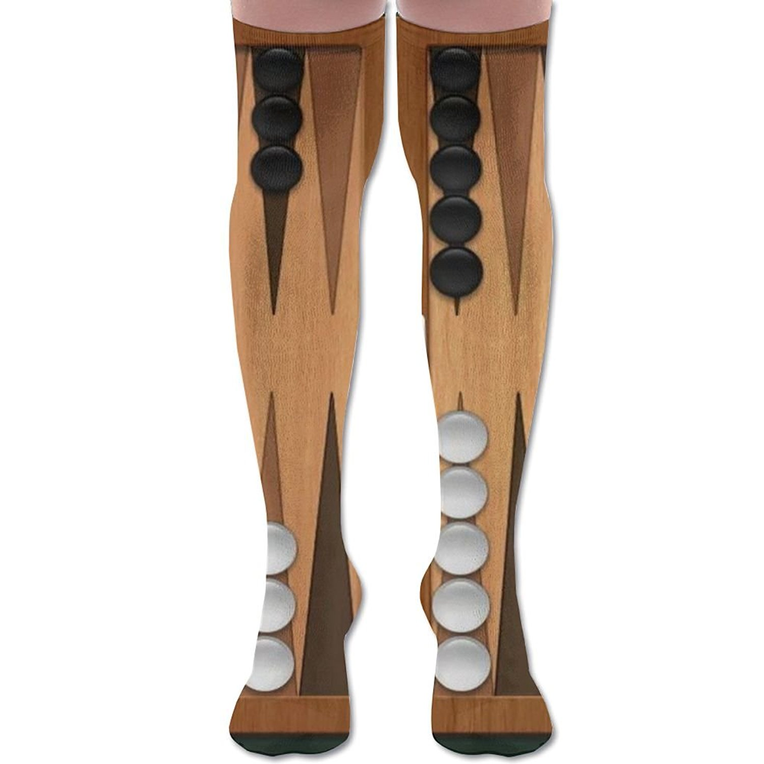 37863f918 Get Quotations · XYMNZGS Novelty Backgammon Womens Socks Knee High Over The  Knee Socks For Cycling Mens Socks