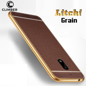 timeless design 963ee 34c7e Newest Plating Tpu Bumper Litchi Grain Lichee Pattern Pu Leather Back Cover  Skin For Nokia 2 3 5 6 8 9 2018 Case - Buy Lichee Pattern Tpu Case For ...