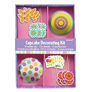Grasslands Road Just Desserts Butterfly and Flowers Cupcake Decorating Kit for 24 Cupcakes