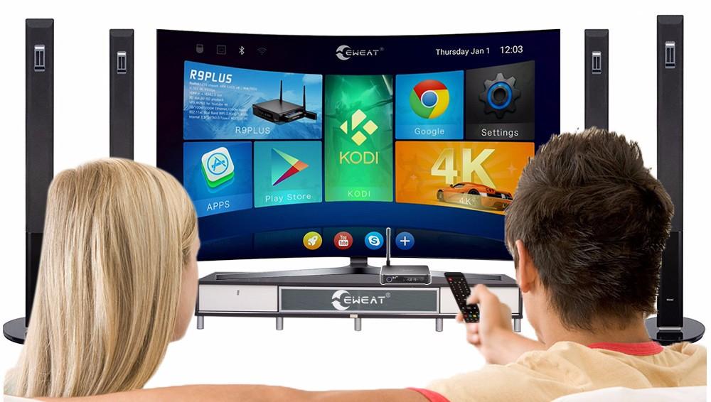 Realtek 1295 Octa Core Android 6,0 TV Box 2G/16G 4 K HD WiFi DLNA Dvb t2 Set Top Box