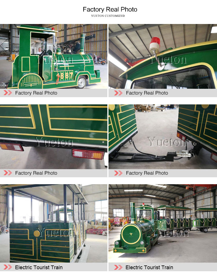 Factory Price Amusement Park Tour Road Trips Sightseeing Diesel Engine Dotto Fun Electric Trackless Tourist Trains For Sale