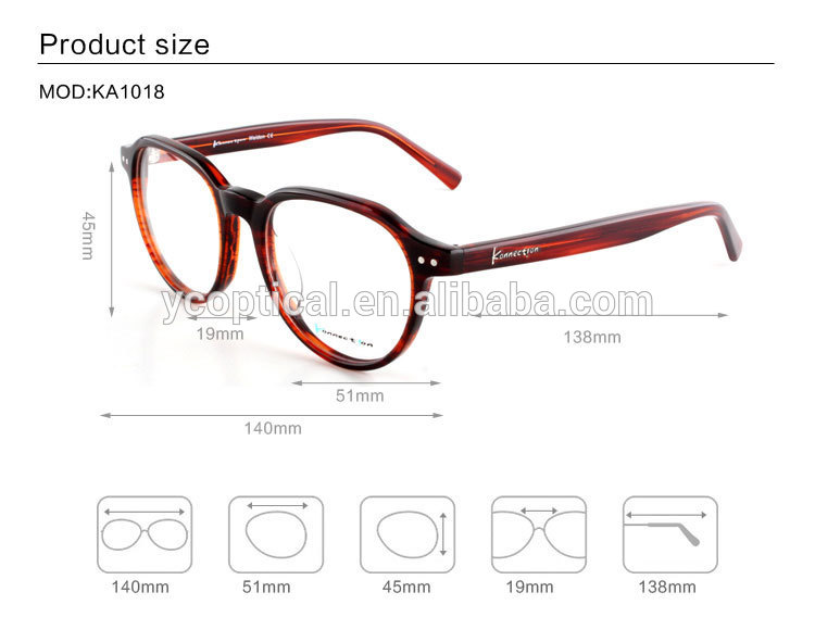 Fashionable Acetate Material Optical Eyewear New Design Spectacles ...