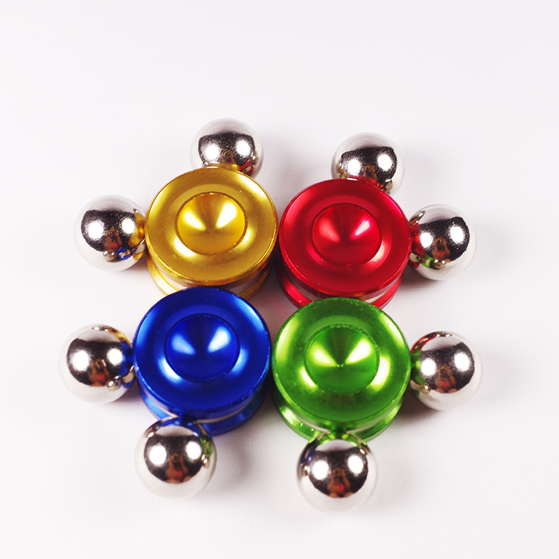Top selling products fidget spinner toy magnetic rolling ball with orbiter