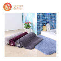 custom logo long pile soft microfibre non slip spa bath tup shower mat