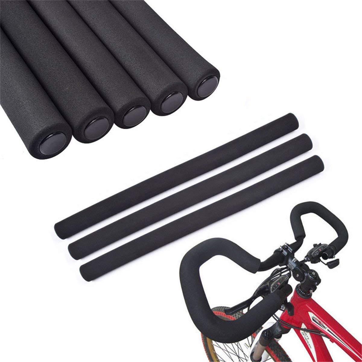 1Pair Mountain Bicycle Handle Handlebar Soft Sponge Foam Bar Grips Nonslip LCYCA