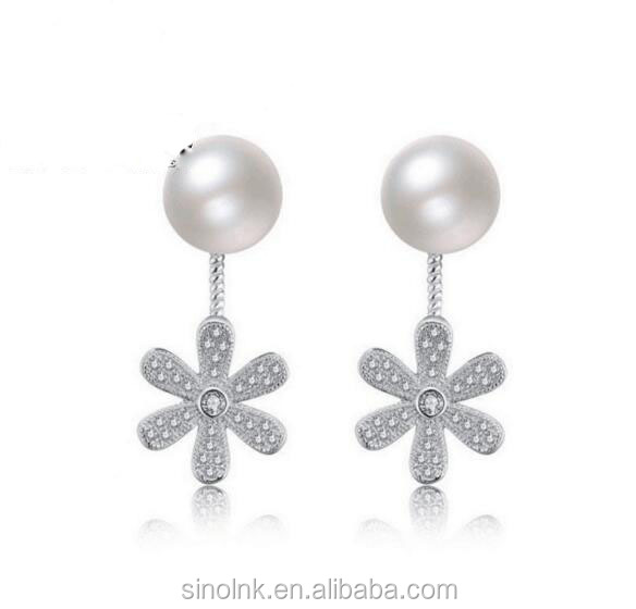 Wholesale Alibaba Pearl Earrings For Women 2017 Stud Plain Earrings Women Collection S Series