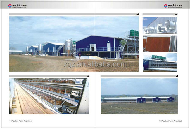 china cheap automatic equipment design prefab poultry house