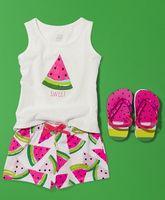 Yiwu cheap conice cotton watermelon summer ruffle wholesale sports clothing