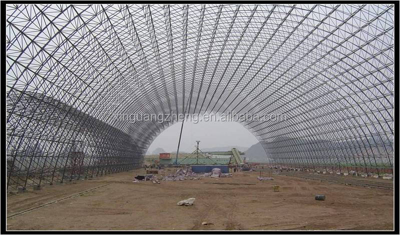 arch steel space frame system design