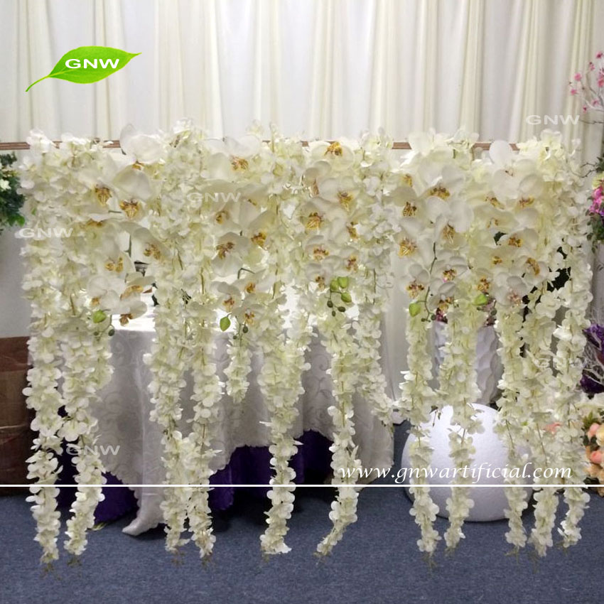 GNW FLWH1707007 Wisteria orchids hanging artificial flowers background decoration