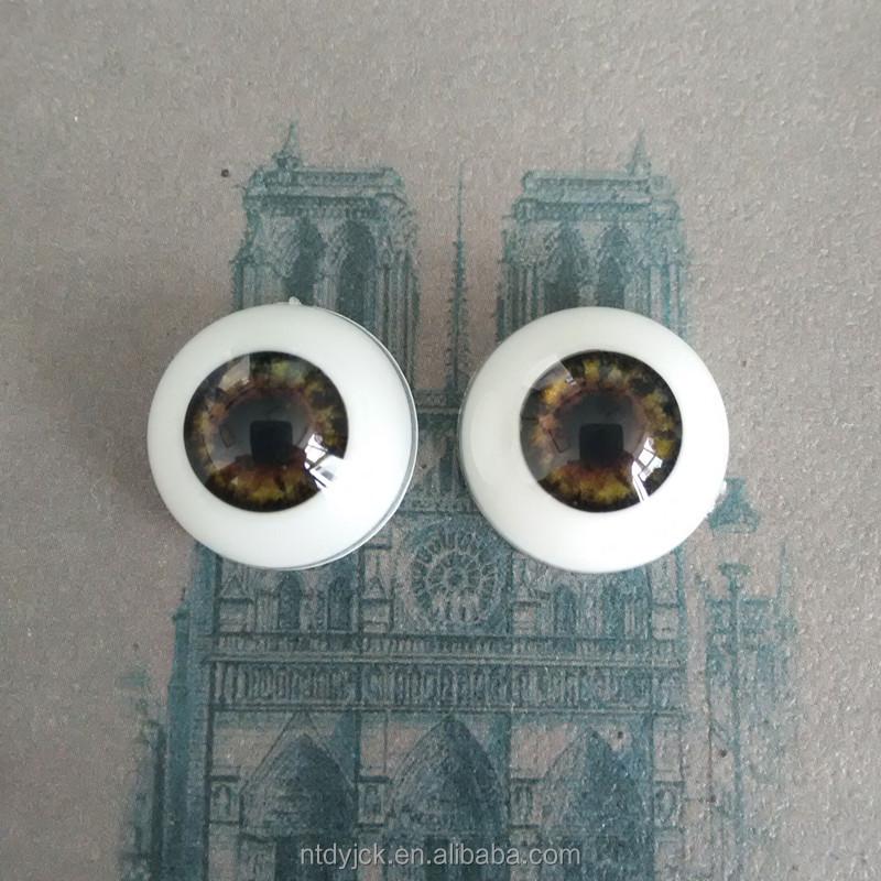 28mm Smaragdgrün Acryl Rund Puppen Augen