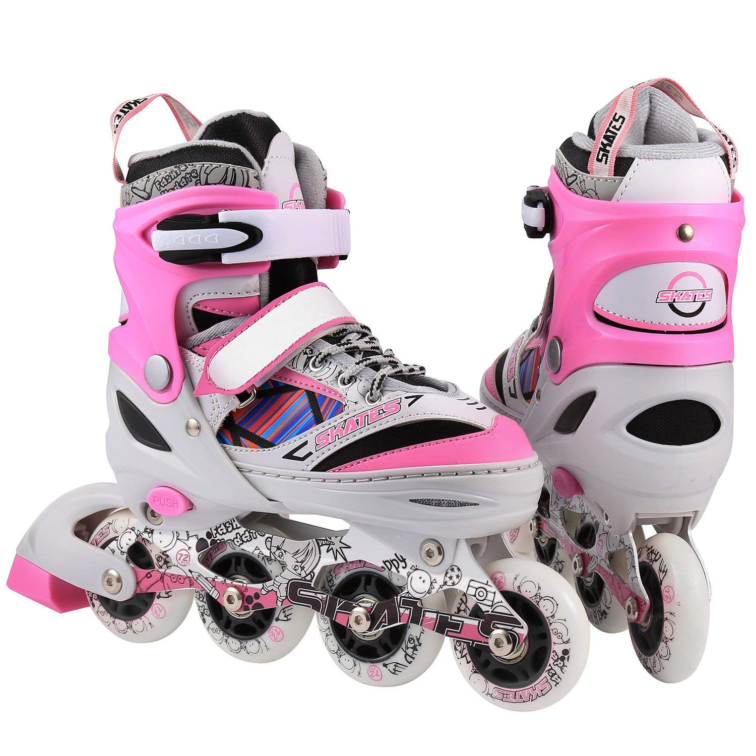 312dc2ece1d Get Quotations · ANCHEER S9 Kids Adjustable Inline Skates Rollerblades  Roller Skates for Boys/Girls/Adults Youth