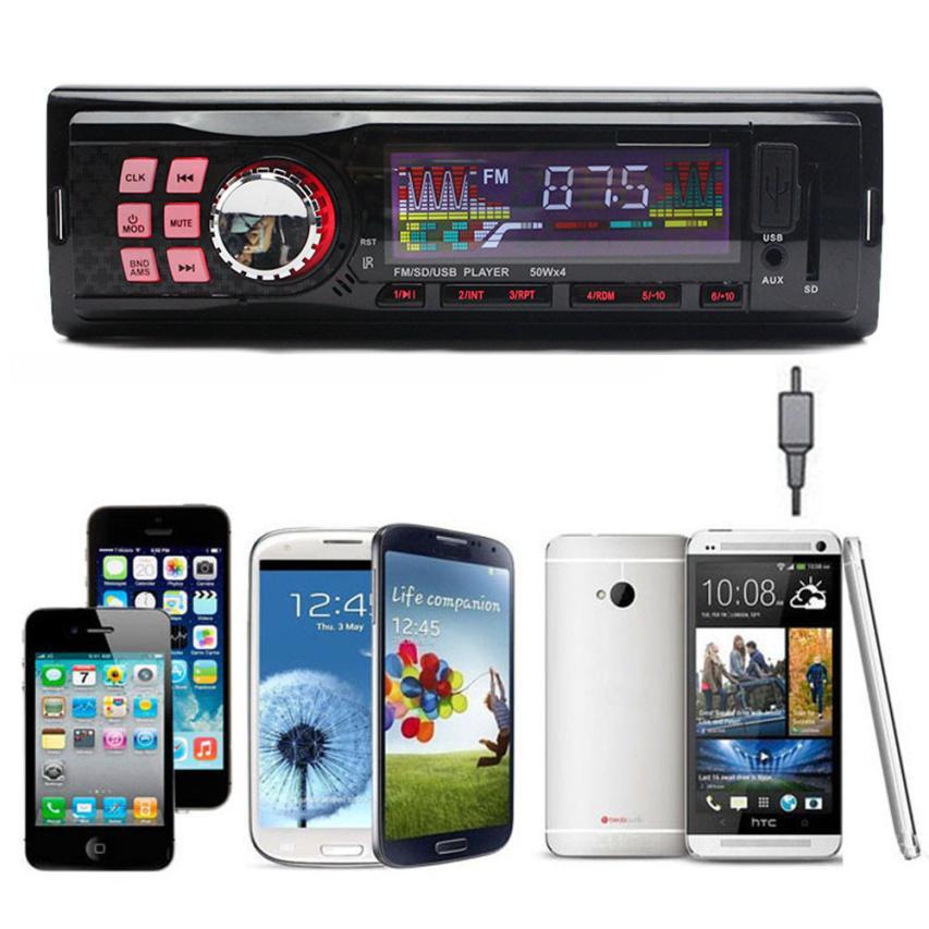 Горячая распродажа новинка автомобильный радиоприемник стерео-вкладыши в-dash MP3 плеера fm-usb SD AUX вход приемника