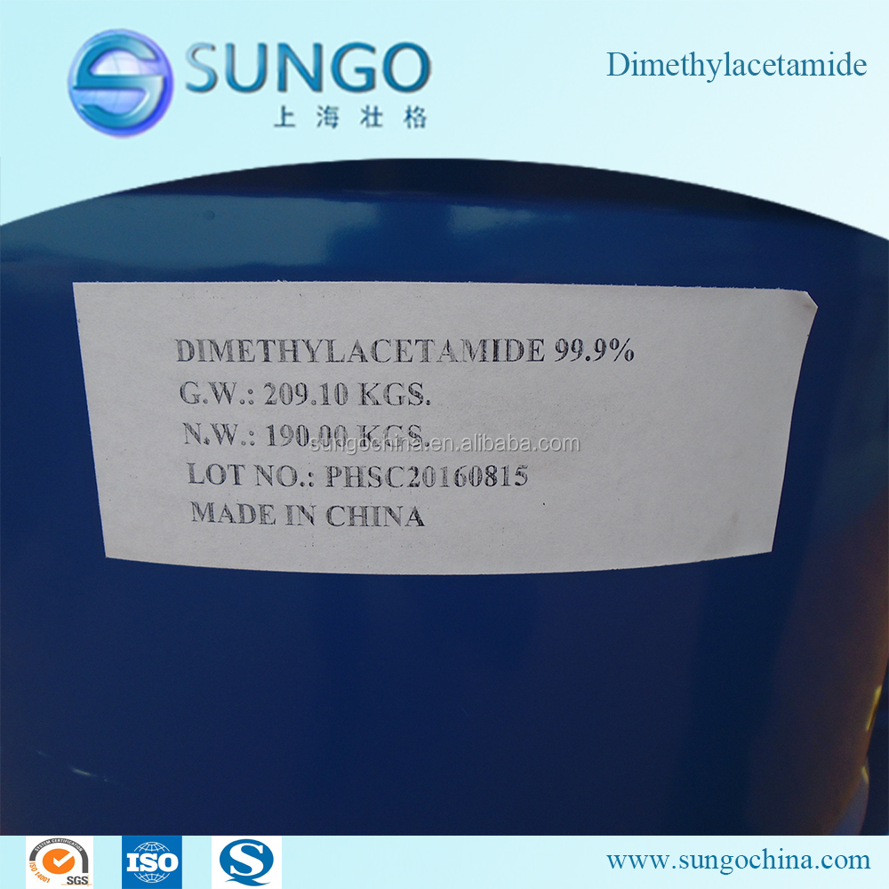 High Quality Dimethylacetamide / DMAC 99.9% 127-19-5 Factory Price