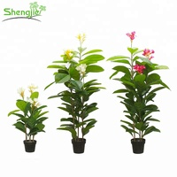 Factory prices ornament indoor artificial plumeria potted trees