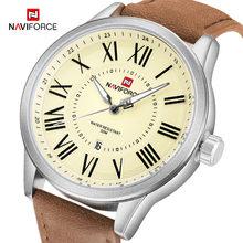 Naviforce бренд Для мужчин аналоговый Кварцевые наручные часы кожа Водонепроницаемый Спортивные часы Для Мужчин's Повседневное часы мужской ...(China)