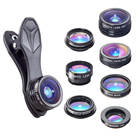 2019 trending Deluxe cell phone lens 2x zoom 7in1 lens kit camera lenses for mobile phone