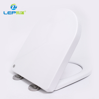 Toilet seat riser D shape plastic hydraulic wide toilet seat